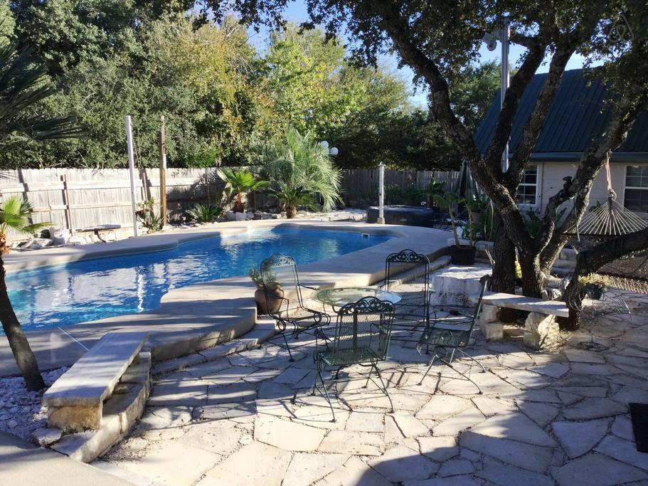Airbnb Austin pool and hot tub
