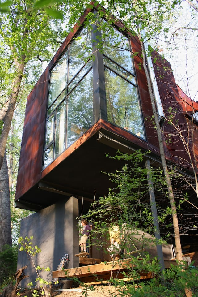 airbnb wooded shelter asheville nc