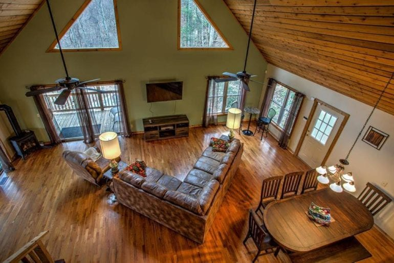 Bird eye view of the expansive living space