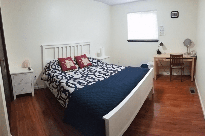 City University of Seattle Simply decorated bedroom with queen-sized bed