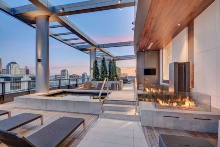 Seattle Comic Con Rooftop patio with fireplaces and beautiful views