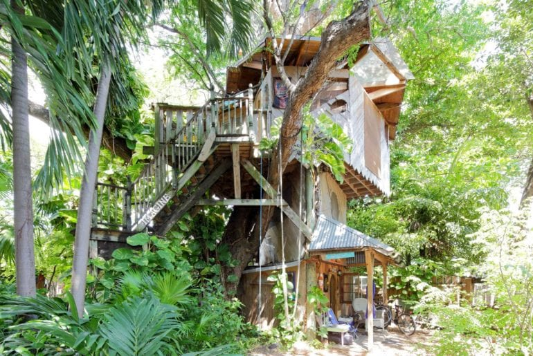 A unique lodging experience - this apartment is located in the treetops. Miami on the cheap.
