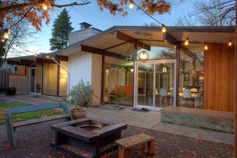 portland airbnb mid century modern home