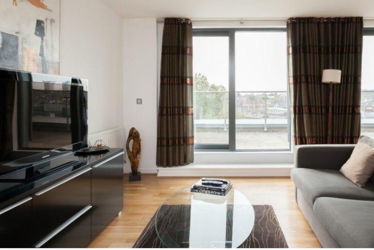 contemporary and modern penthouse airbnb camden town