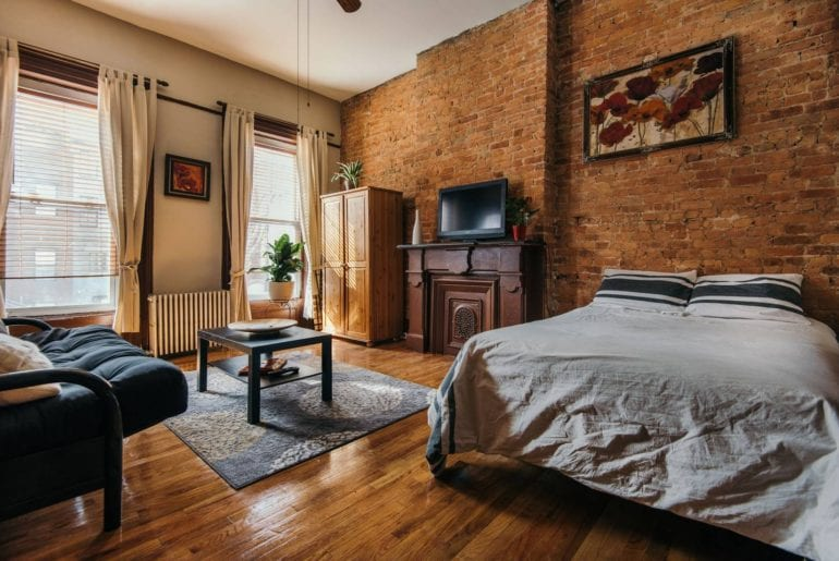 renovated airbnb brownstone studio new york city