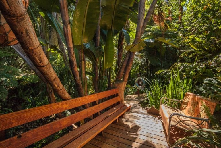 tropical airbnb guest house topanga canyon
