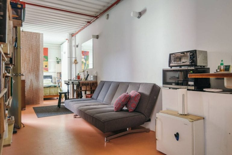 airbnb shipping container home williamsburg brooklyn