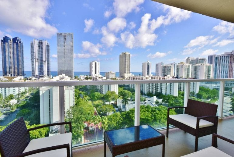 ocean view condo airbnb sunny isles miami
