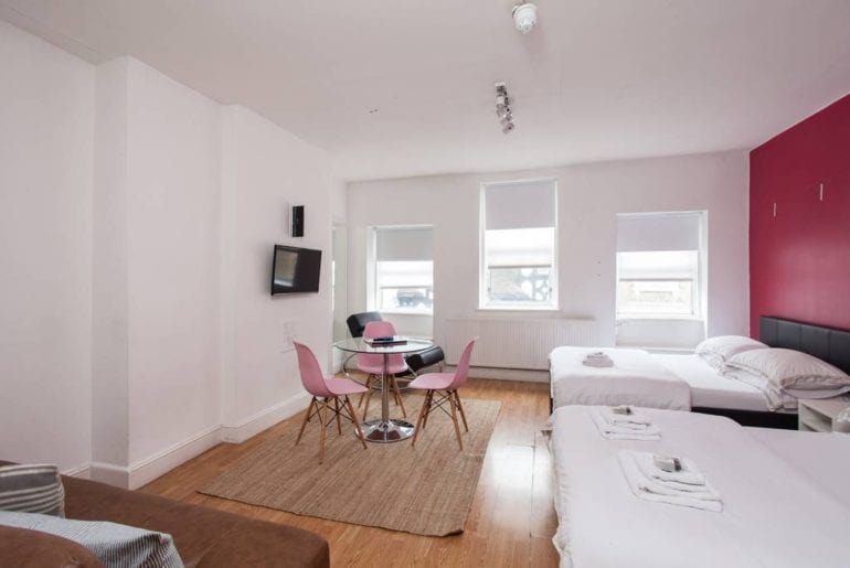 stylish soho studio airbnb london