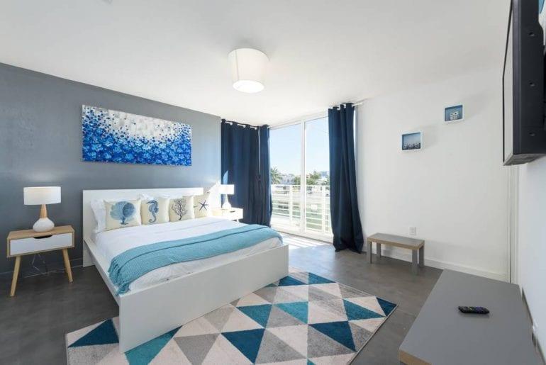 colorful south beach apartment airbnb miami