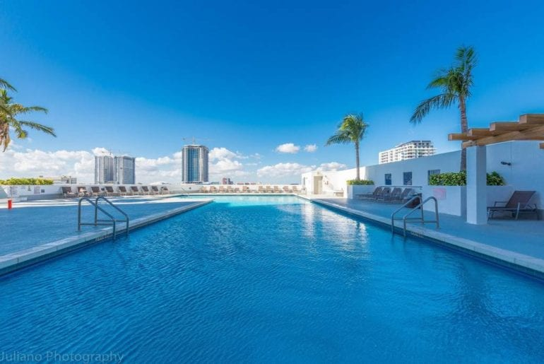 high rise miami airbnb apartment hot tub and pool