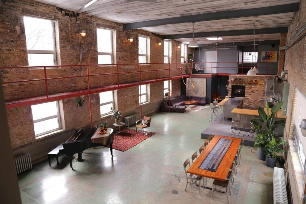 Converted Factory Chicago Loft airbnb