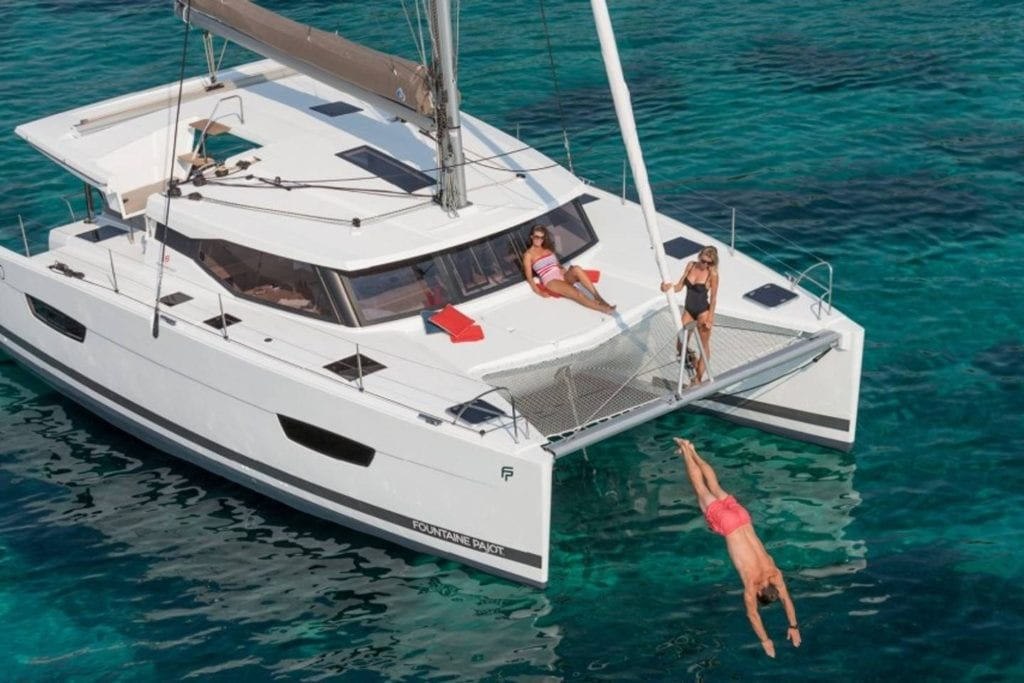 Catamaran three-bedroom yacht on the Key West waters