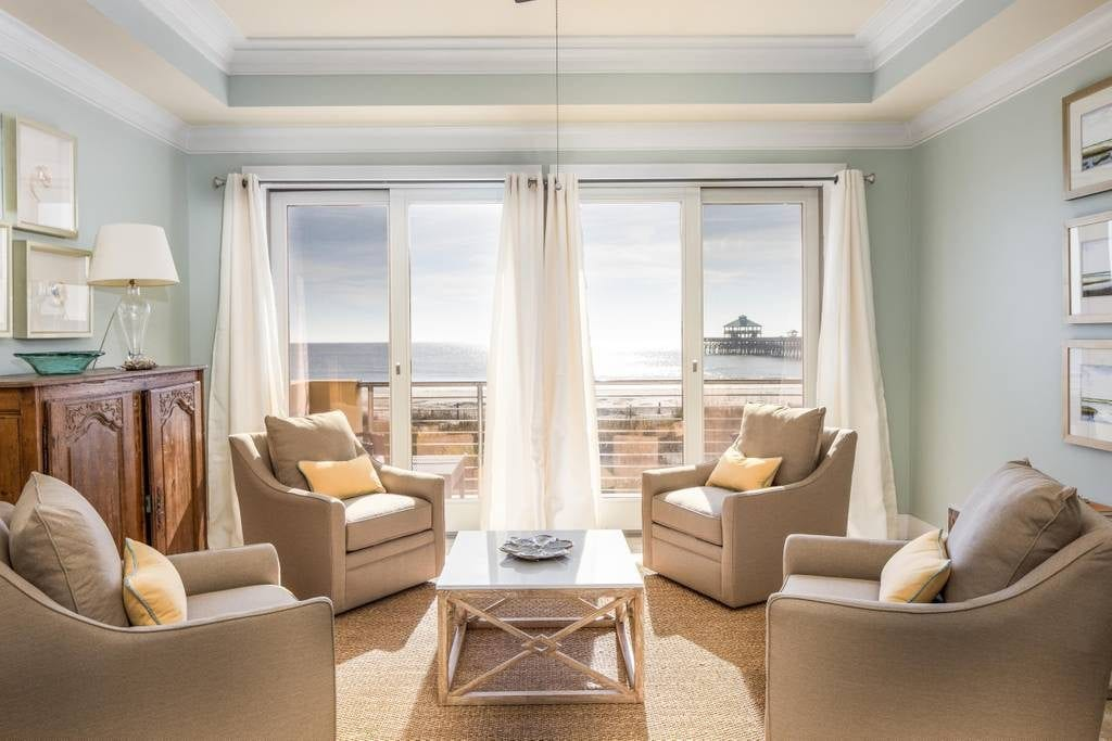 Sun shines directly into this warm and inviting living room