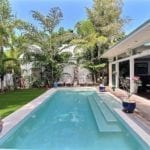Heated saltwater pool in the yard of a Key West property