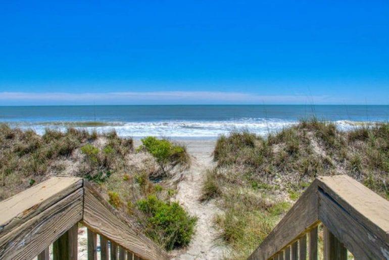 Myrtle Beach from a walkway