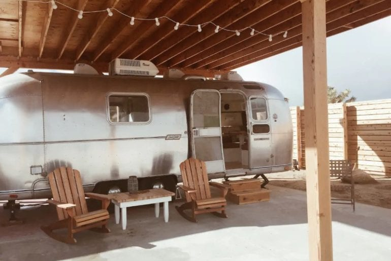 joshua stream original airstream trailer from airbnb