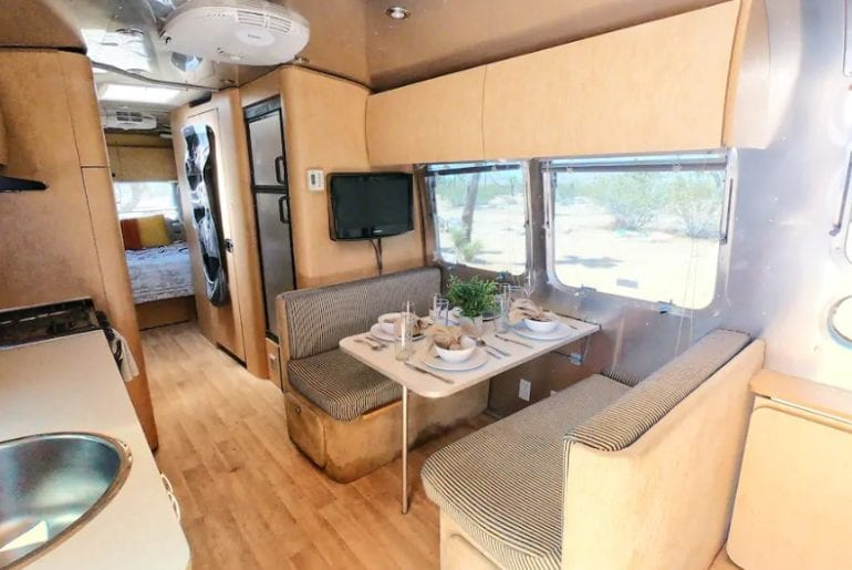 family friendly airbnb airstream trailer in joshua tree