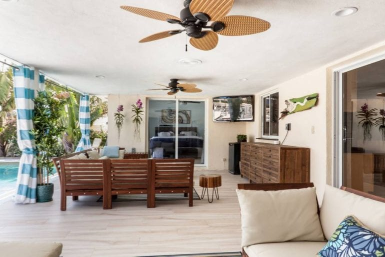 waterfront airbnb bungalow with pool in boca raton