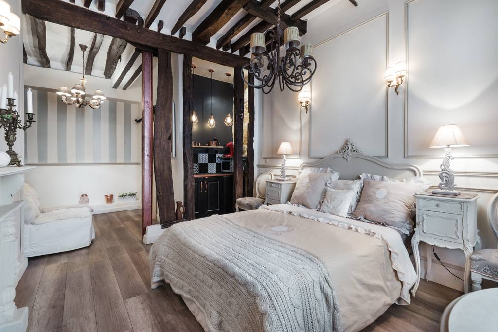 a different angle on a romantic french bedroom