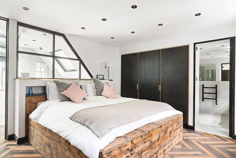 a luxurious bedroom with en suite bathroom