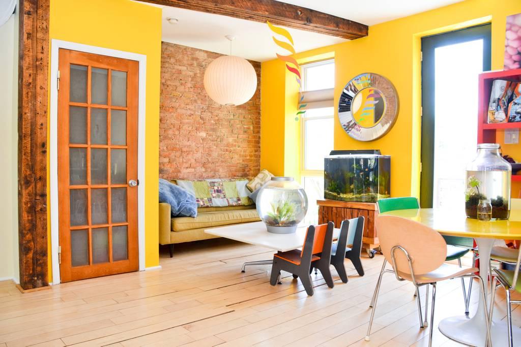 eco friendly airbnb triplex in brooklyn
