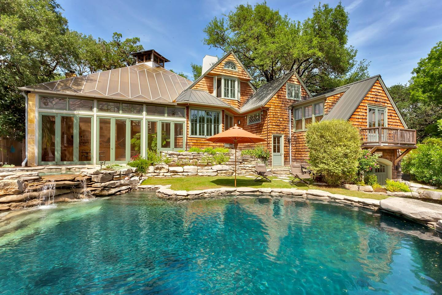 luxury home with pool airbnb tarrytown austin