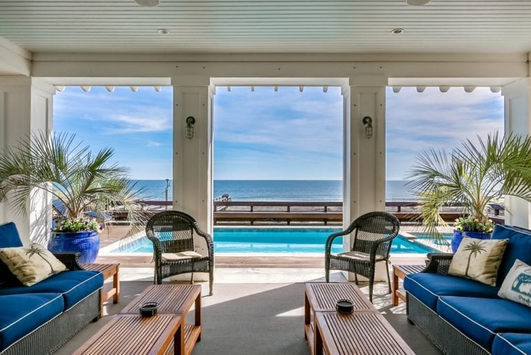 a view of the atlantic from a Myrtle Beach VRBO
