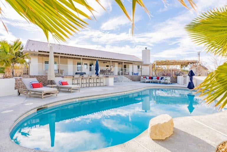 family getaway with pool airbnb joshua tree