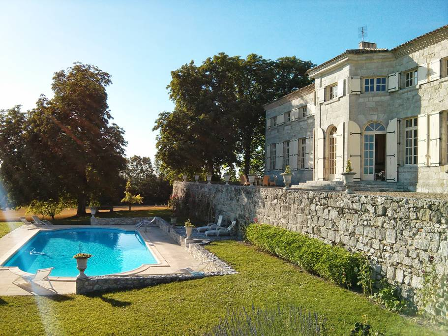 huge luxury estate with swimming pool france