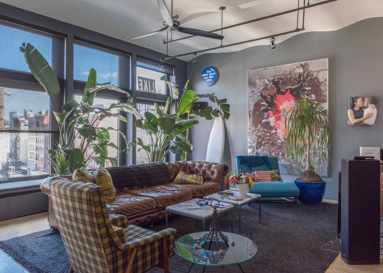 plant filled airbnb apartment in new york city