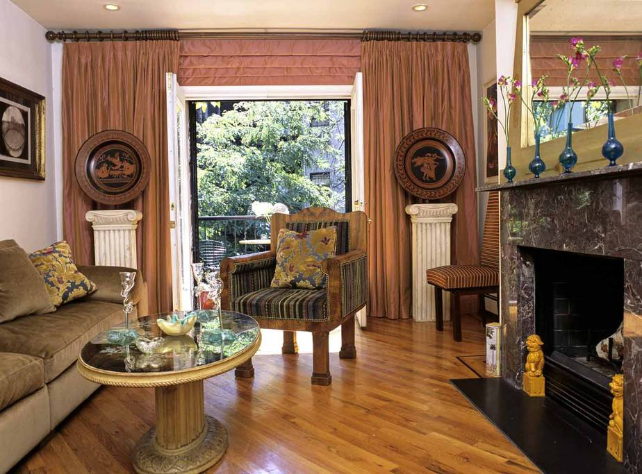 gothic style harlem brownstone from airbnb