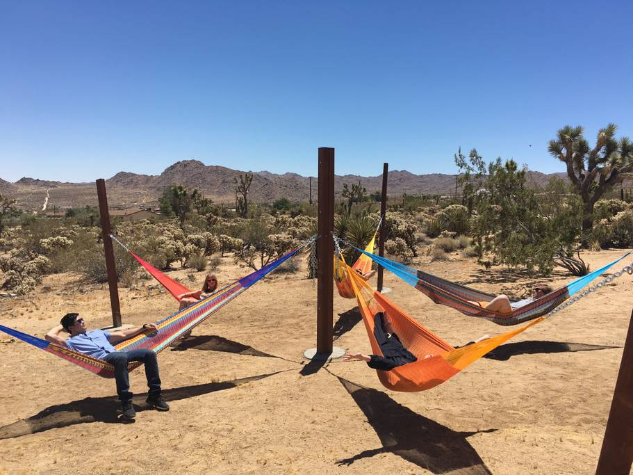 joshua tree home with hammock circle airbnb