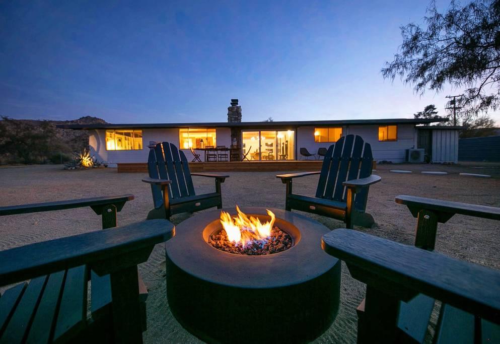 modern art style home close to coachella festival airbnb