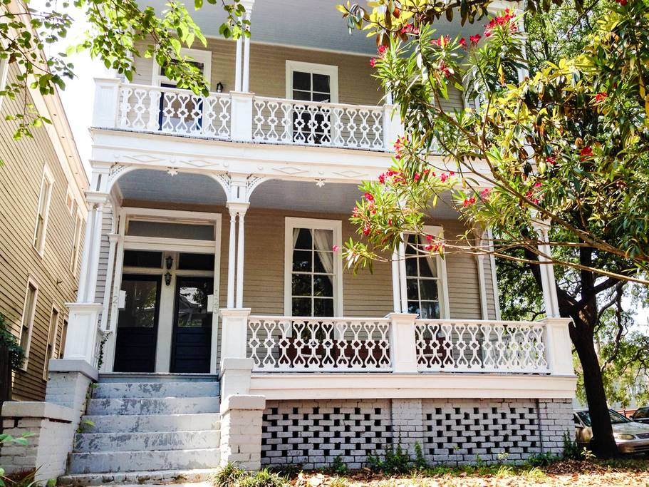 historic savannah property with double front porches