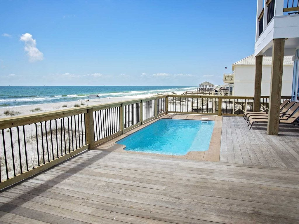 gulf front home with pool airbnb alabama
