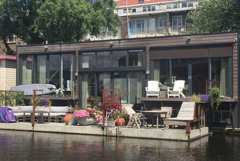 contemporary airbnb houseboat near jordaan amsterdam